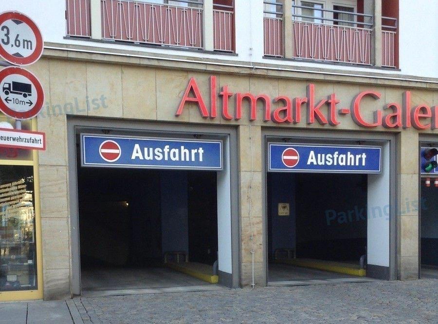 Parkhaus Altmarkt Galerie Dresden Parken In Dresden